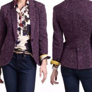 Cartonnier Anthropologie Purple Dashes Blazer Sz S